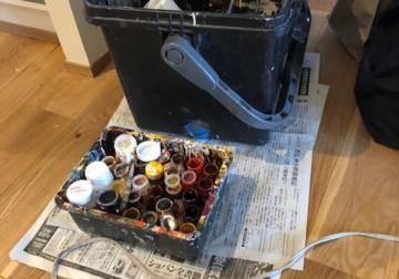 職人さんの道具と建具のガラス