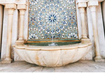 モロッコのタイル使い