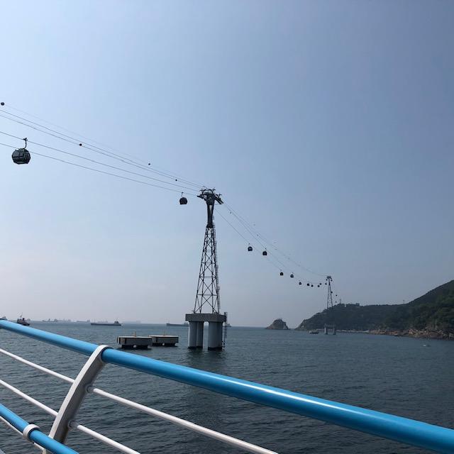 釜山のロープウェイ