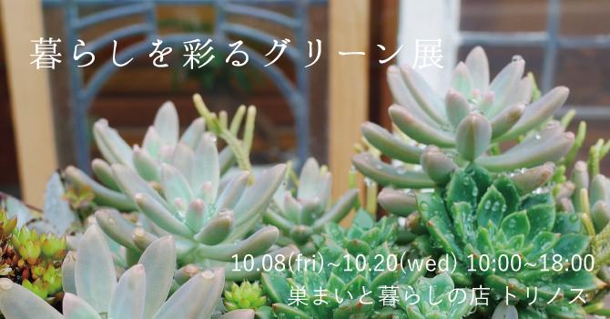 『暮らしを彩るグリーン展』in 巣まいと暮らしの店トリノス